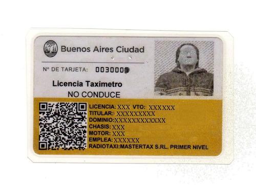 licencia taxi de capital federal 2012 vendo $ 149.650