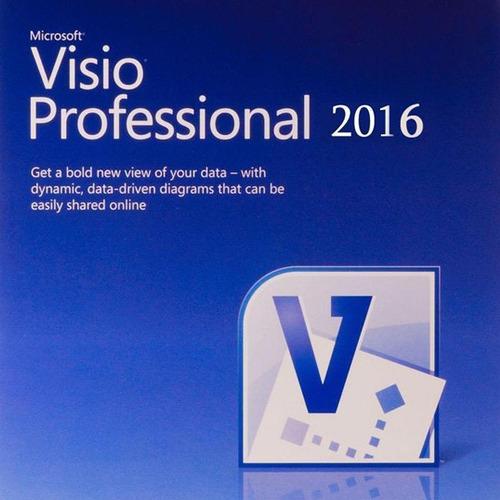 licencia visio professional 2016 32/64 bit original - 1 pc