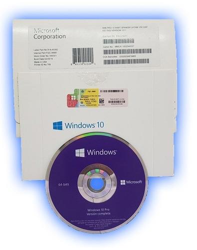 licencia win 10 pro cd original