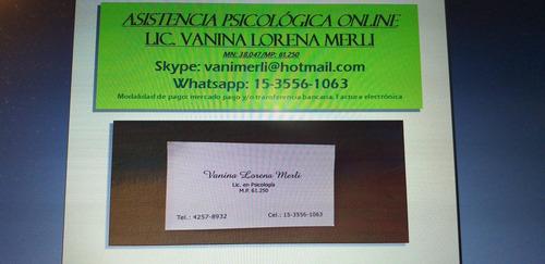 licenciada en psicologia psicoterapia online  tcc