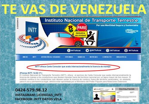 licencias de conducir y carta consular