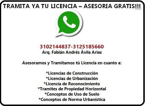 licencias de construcción - todo tipo de licencias