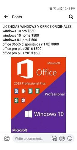 licencias originales office y windows