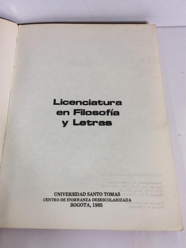 licenciatura en filosofía y letras, modulo profesional, usta