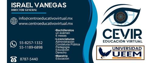 licenciaturas y maestria