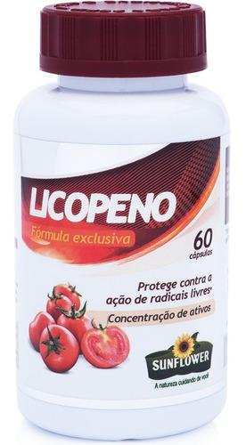 licopeno 500mg 60 cápsulas - sunflower