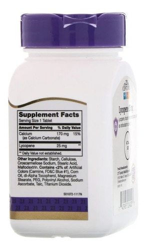 licopeno importado concentrado 25mg - 60 tabletes