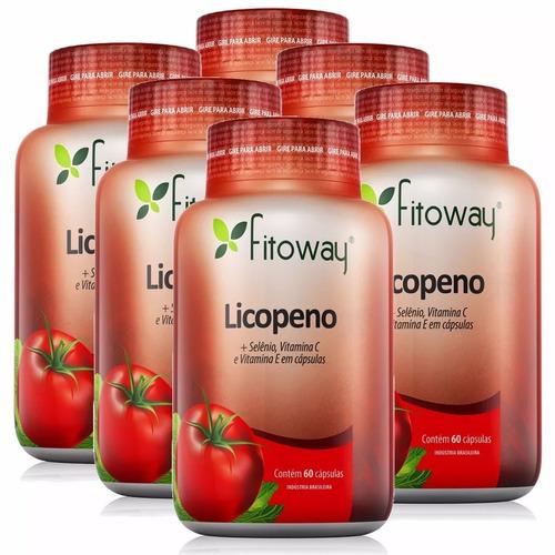 licopeno + selênio + vitaminas c & e fitoway 6x 60 cápsulas