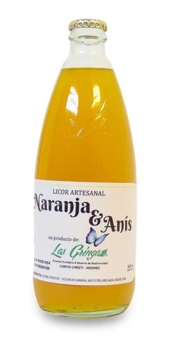 licor naranja artesanal x500ml  las gringas- línea gourmet