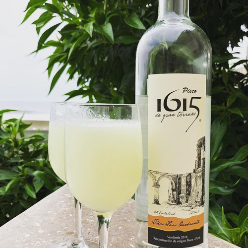 licor pisco 1615 quebranta destilado 750ml botella peruano