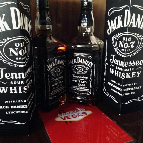 licor whiskey jack daniels nº7 litro aniversario en caja