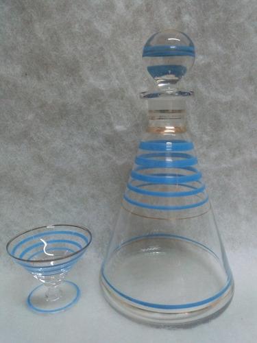 licorera antigua de vidrio