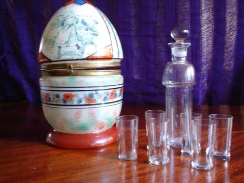 licorera antigua (forma huevo)
