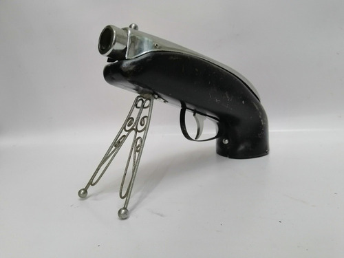 licorera antigua italiana forma pistola cromo hierro
