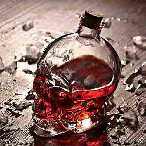 licorera craneo calavera cristal de doomed head 100 ml h1156