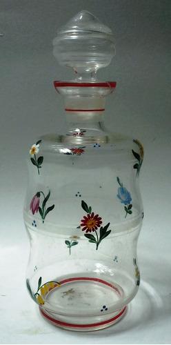 licorera cristal italiano flores colores