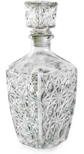 licorera decantador c/ tapa cristal diamante de vidrio 500ml