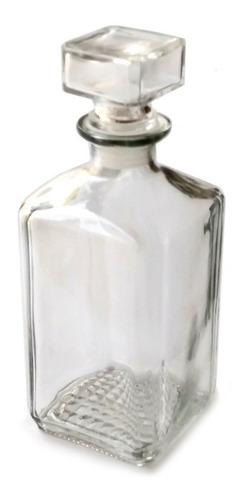licorera decantador de vidrio, con tapa hermética, tipo vintage de vidrio cuadrada 1 litro, para whisky, tequila, vodka