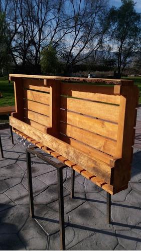 licorera para bar rústica de madera