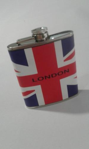 licorera, petaca acero inoxidable london 7 oz