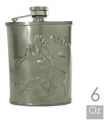 licorera whiskera petaca 6oz en acero inox: por banimported.