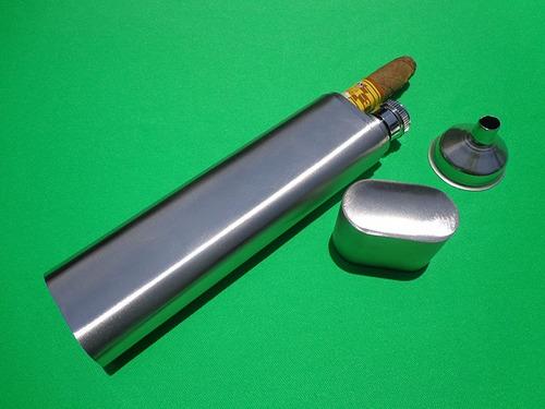 licorera y purera d acero inoxidable personalizada con láser