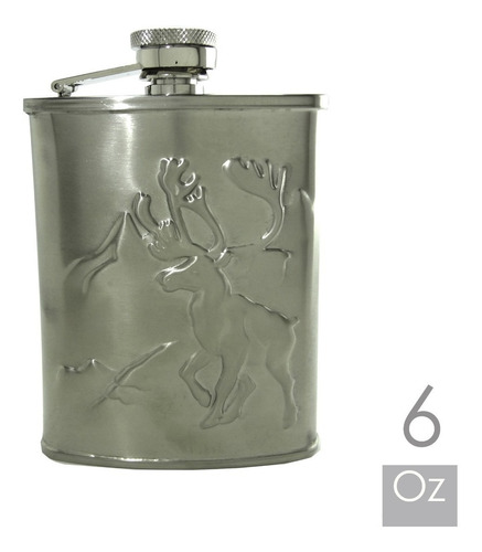 licoreras 6oz en acero con capacidad de 7 copas