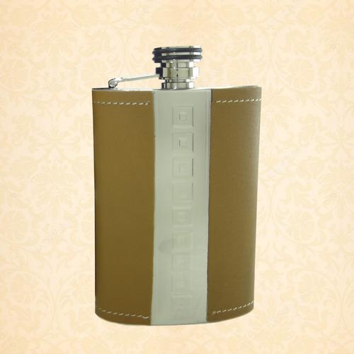 licoreras 8 oz en acero con capacidad de 1/4 de botella