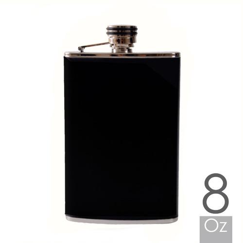licoreras 8oz en acero con capacidad de 1/4 de botella