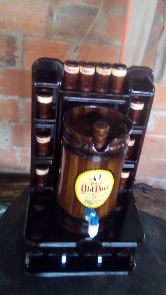 licoreras tipo barril...de 10 copas  d 1.75 litros