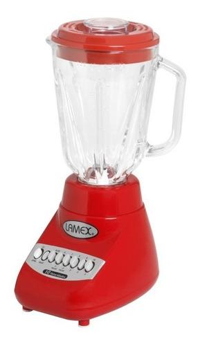 licuadora 10 velocidades c/vaso vidrio templado lamex 2154-8