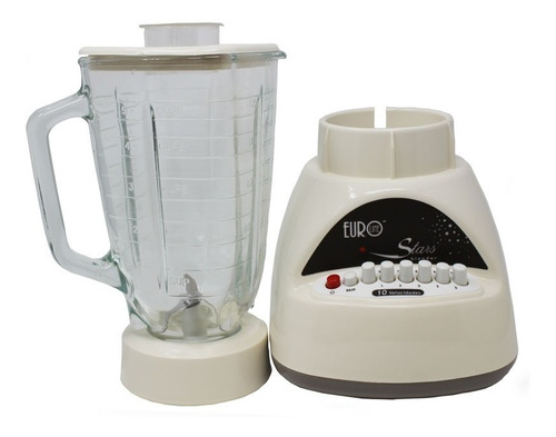 licuadora 10 velocidades vaso vidrio beige eurostar