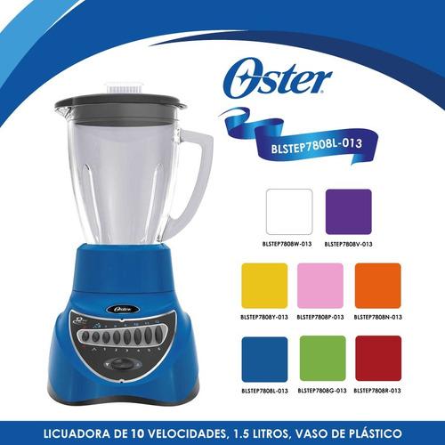 licuadora 10 velocidades v/plástico azul oster blstep7808l