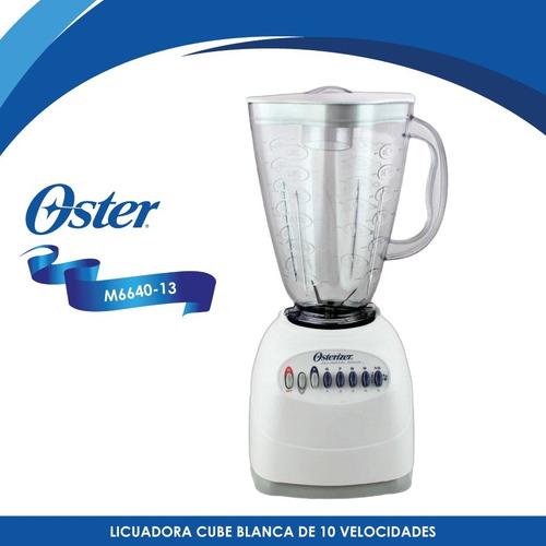 licuadora 10 velocidades v/plástico cube oster 6640-13