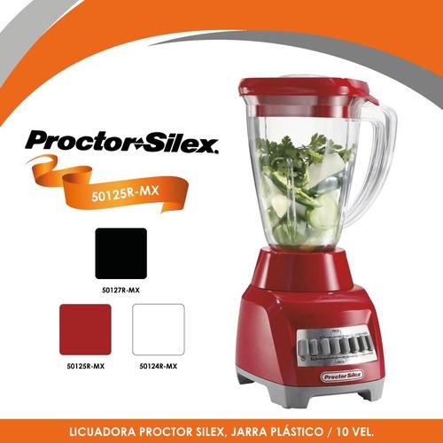 licuadora 10 velocidades v/plástico roja proctor silex 50125