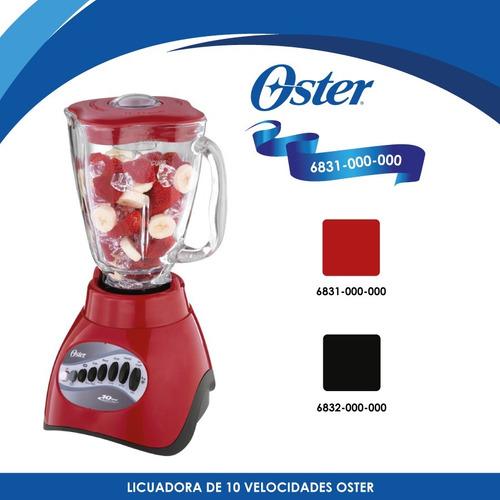 licuadora 10 velocidades v/vidrio roja oster 6831-000-000