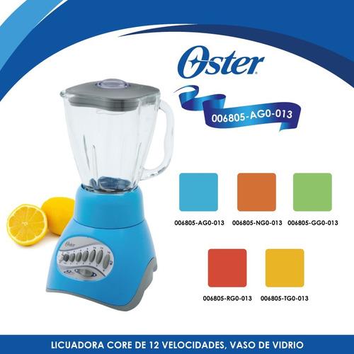 licuadora 12 vel v/vidrio core azul oster 6805-ag0-013