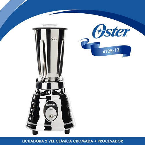 licuadora 2 vel clásica cromada + procesador oster 4125-13