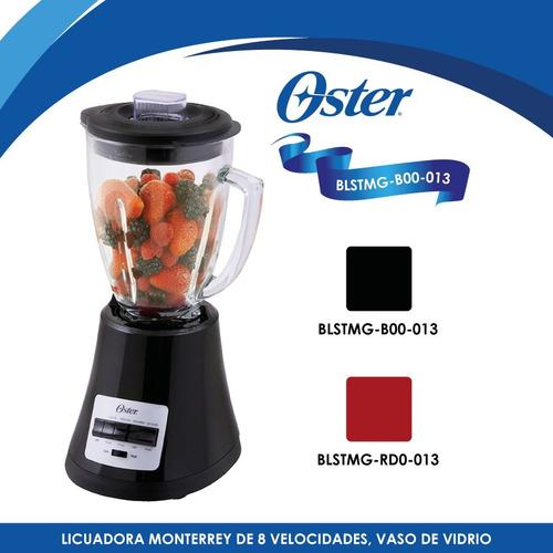 licuadora 8 vel v/vidrio monterrey negro oster blstmg-b00