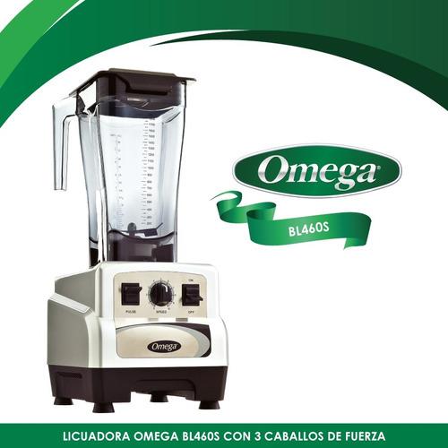 licuadora comercial 10 vel 3 hp v/plastico plata omega bl460