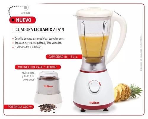 licuadora con molinillo liliana licuamix al519 600w