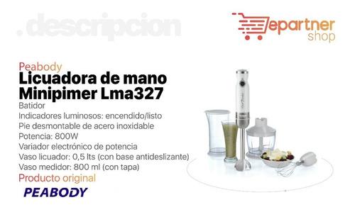 licuadora de mano minipimer peabody lma327 800w eps