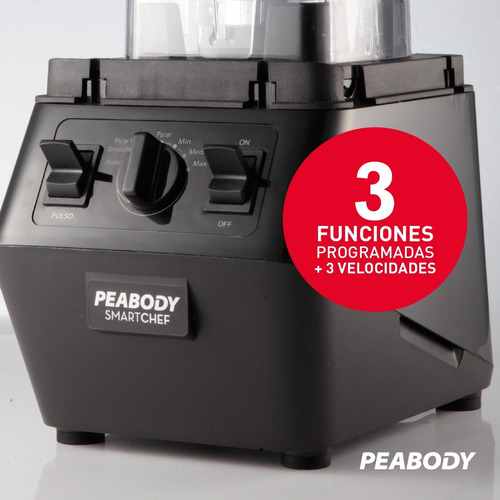 licuadora de mesa profesional 3hp 2200w peabody pe-pb2200 *