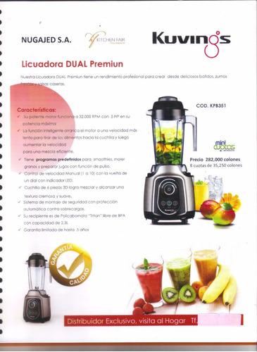 licuadora industrial dual premiun,marca kuvings, profesional