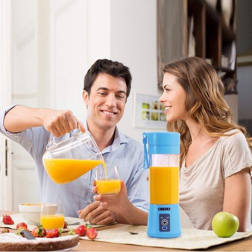 licuadora jugos portatil batidos 380ml usb garantizada