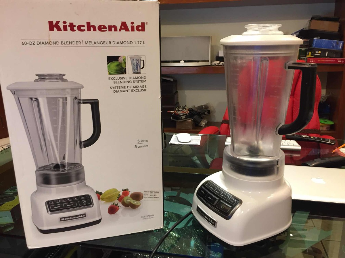 Licuadora Kitchenaid 60 Oz Diamond Blender White Envió Free ... on vortex blender, breville bbl605xl hemisphere control blender, margaritaville blender, 25 diamond blender, nutribullet ninja blender, best smoothie blender, black diamond blender, vitamix 5200 blender, orange juice blender, cuisinart diamond blender, red blender, blendtec blender, kitchen blender, cuisinart hand blender, cobalt blue vitamix blender, color blender, oster blender, kenwood kmix hand blender,