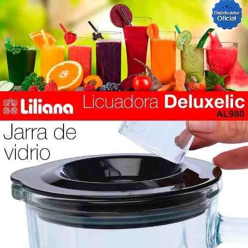 licuadora liliana deluxlic al180 jarra vidrio + vaso portabl