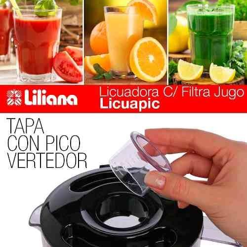 licuadora liliana licuapic al110 500 watts filtro de jugo