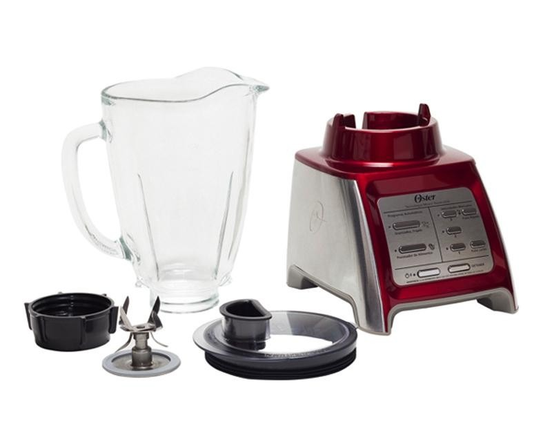 Licuadora oster 6 velocidades roja reversible vaso de for Licuadora oster reversible