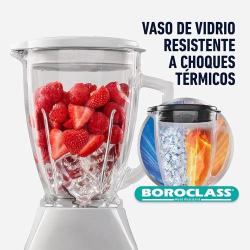 licuadora oster® con vaso de vidrio y control de perilla bls